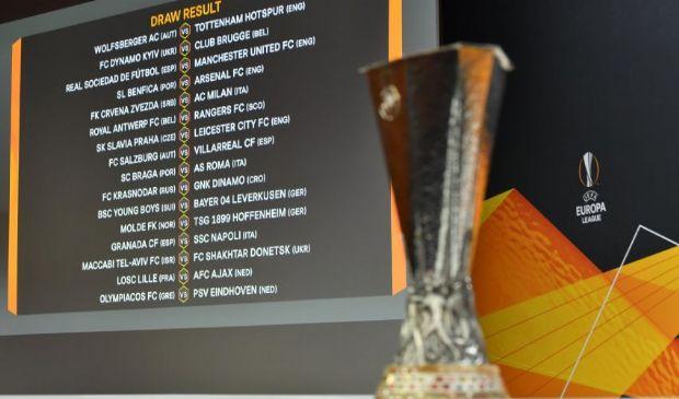 Sorteggi Europa League: Milan-Stella Rossa, Napoli-Granada, Roma-Braga
