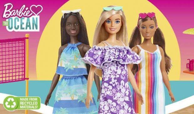 Barbie diventa green, realizzata in plastica riciclata dall'oceano