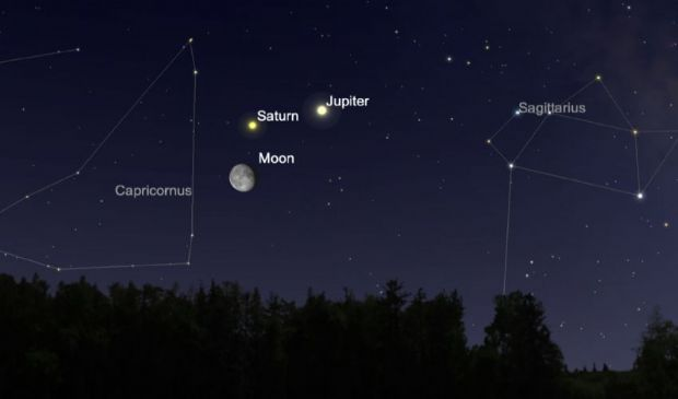 Congiunzione Giove Saturno e solstizio d'inverno: il doodle di Google