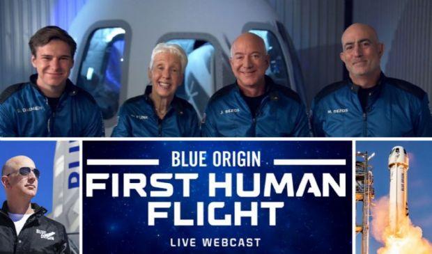 Jeff Bezos nello spazio, 52 anni dopo l'Apollo 11 sulla Luna