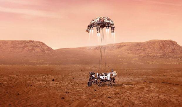 Oggi l'arrivo su Marte di Perseverance, il rover della missione NASA