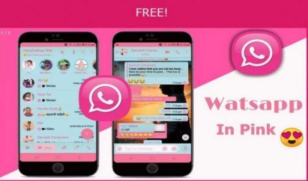 """WhatsApp Pink: cos'è e quali i rischi dietro la novità versione """"rosa"""""""
