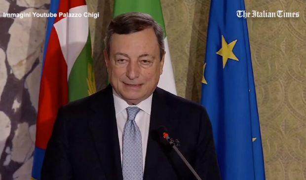 """Covid, Draghi: """"L'economia riparte, ma la pandemia non è finita"""""""