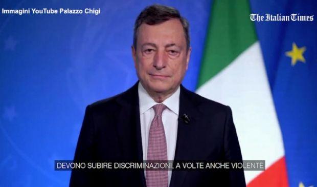 """Draghi: """"Immorale, ingiusta e miope la discriminazione delle donne"""""""
