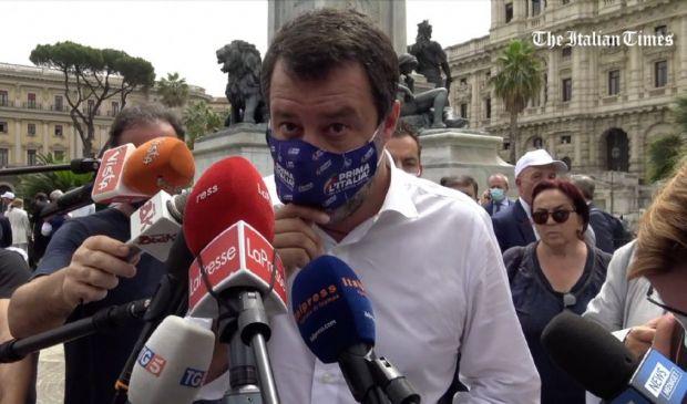 """Europei, Salvini: """"Spiace che Letta faccia i processi ai giocatori"""""""
