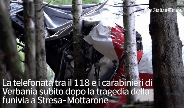 Funivia Stresa-Mottarone, l'audio da brividi della telefonata al 118