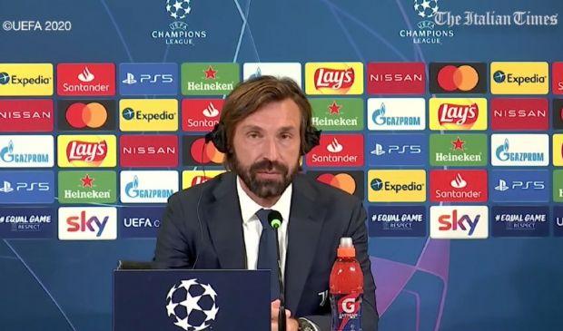 Juve-Barcellona: Pirlo parla della dura sconfitta e il web insorge