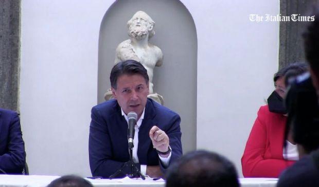 """M5S, Conte a Napoli per Manfredi: """"Se movimento vorrà sarò il leader"""""""