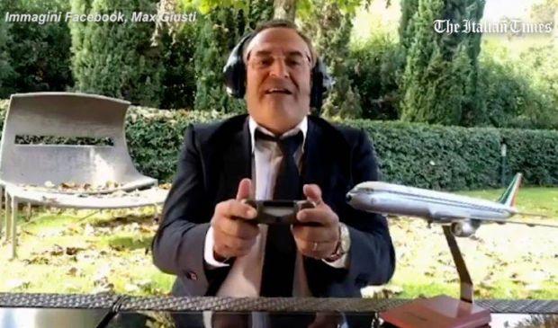 """Max Giusti fa Lotito su aereo della Lazio: """"Se non parte tira l'aria"""""""