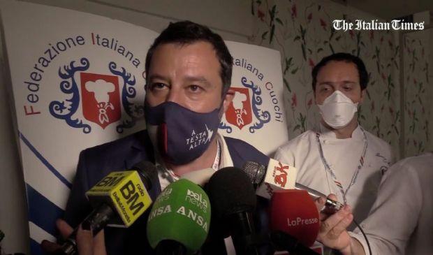 """Salvini: """"Berlusconi al Quirinale? È presto per parlarne"""". Su Draghi.."""